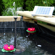 Solar Fountain Pump 2w - Floating Water Pump For Small Pond, Garden, Water