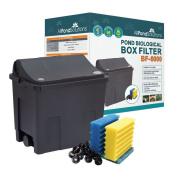 Small Fish Pond Filter Box Optonal Pump / Uv Steriliser / Hose / Clips _ 6000l