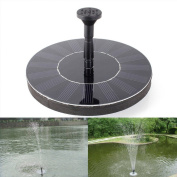 Seicosy Solar-power Fountain Brushless Pump Plants Watering Kit Set With