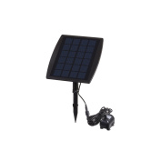 Anself Solar Power Panel Landscape Pool Garden Fountains Pluggable Solar Power