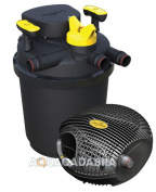 Laguna Clear Flo Pressurised Uv Pond Filter And Max Flo Pump Kit Garden Fish Koi