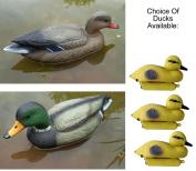 Floating Duck Ducklings Fish Pond Ornament Plastic Decoy Mallard Drake Lifesize