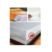 Full Size Mattress Cover Zipper Waterproof Plastic Bed Bug Dust Mites Allergens