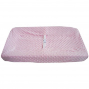 TL Care Heavenly Soft Minky Dot Fitted Contoured Changing Pad Cover, Pink