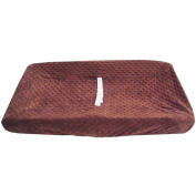 TL Care Heavenly Soft Minky Dot Fitted Contoured Changing Pad Cover, Chocolate