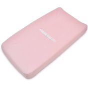 TL Care Heavenly Soft Chenille Fitted Contoured Changing Pad Cover, Pink