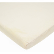TL Care Heavenly Soft Chenille Fitted Changing Pad Cover for 2.5cm Flat Pad Only, Ecru