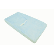 TL Care Heavenly Soft Minky Dot Fitted Contoured Changing Pad Cover, Blue