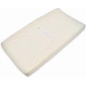TL Care Heavenly Soft Chenille Fitted Contoured Changing Pad Cover, Ecru