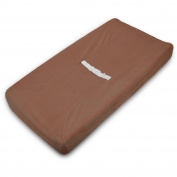 TL Care Heavenly Soft Chenille Fitted Contoured Changing Pad Cover, Chocolate