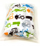 Go Mama Go Designs Tractor Trails Changing Pad Cover - OPEN BOX