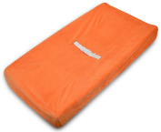 American Baby Company Heavenly Soft Chenille Fitted Contoured Changing Pad Cover - Orange