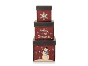 Darice Paper Box Set Square Frosty 3pc