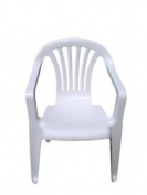 Supagarden Plastic Childs Chair White
