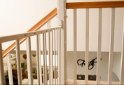 Bannister Guard for Hardware-Mounted Baby Gate - White