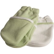 Safety 1st No-Scratch Mittens, Green, 2 pairs
