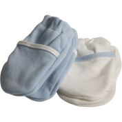 Safety 1st No-Scratch Mittens, Blue, 2 pairs