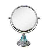 Elegant Home Fashions Free Standing Blue 5X Magnifying Makeup Mirror