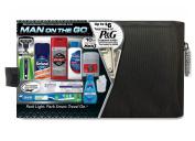 Men's Premium Travel Bag with Barbasol Shave Cream