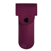 Fintie PU Leather Double Edge Safety Razor Protective Travel Case Cover with Felt Lining, Purple