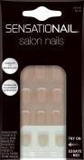 SensatioNail Gellusion Salon Nails Kit, Petite Pink French, 31 pc
