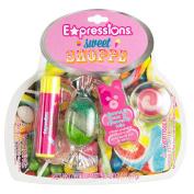 Expressions Sweet Shoppe 3-Piece Cosmetic Set - Lip Gloss & Lip Balm