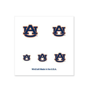 Auburn Tigers Fingernail Tattoos - 4 Pack