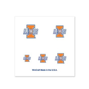 Illinois Fighting Illini Fingernail Tattoos - 4 Pack