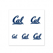 California Golden Bears Fingernail Tattoos - 4 Pack