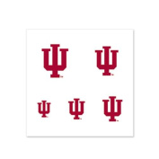 Indiana Hoosiers Fingernail Tattoos - 4 Pack