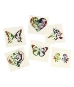 Rainbow Glitter Temporary Tattoos -72ct