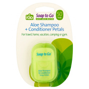 iGo Soap to Go Aloe Shampoo & Conditioner Petals, 50 count