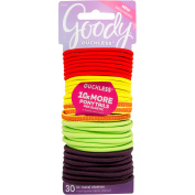 Goody Ouchless Elastic Hair Ties Assorted Neon Attitude, 30 ct