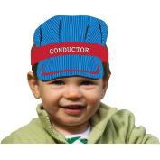 All Aboard Train Conductor's Hat Headband, 8 pk