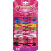 Enchante Accessories Kids Glitter Snap Clips, 18 ct