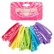 Enchanté Accessories Kids Mixed Elastics, 36 count