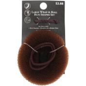 Costume Hair Basics Bun Shaper, Large Brown