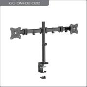 QualGear QG-DM-02-022 33cm - 70cm 3-Way Articulating Dual Monitor Desk Mount