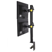 FLEXIMOUNTS D1DV Full Motion Vertical Dual Desk Mounts Stand for 2 screens up to 70cm LCD Monitor