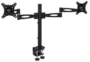 Mount-It! Dual Arm Adjustable Computer Monitor Desk Mount Stand,Compatible with 60cm - 70cm Monitors