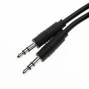 ONN Straight AUX Cable, 1.8m, Black