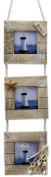 Nautical Beach Seaside Themed Triple Hanging Photo Picture Frame