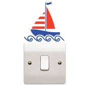Nautical Boat Light Switch Sticker Children's Bedroom Playroom Fun Adhesive Vinyl