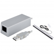 Insten Wired Sensor Bar+USB to RJ45 RJ 45 Ethernet Network Adapter For Nintendo Wii