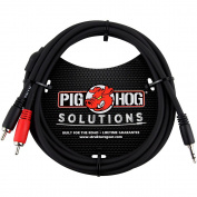 Pig Hog Solutions Stereo Breakout Cable 3.5mm to Dual RCA (0.9m) 1.8m