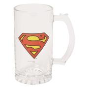 Superman Stein Glass