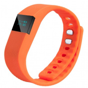 Fitness Tracker Bluetooth 4.0 Sleep Monitor Calorie Counter Pedometer Sport Activity Tracker for Android and IOS Smart Phone, Orange