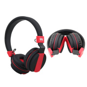 QFX Stereo Headphones with Microphone - Black
