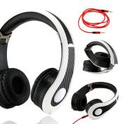 Carbon Fibre Print Adjustable Circumaural Over-Ear Earphone Stero Headphone 3.5mm for iPod MP3 MP4 PC iPhone Music
