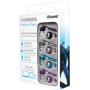 dreamGEAR DGHP-5710 Colourful Stereo Earbuds with Microphone Family 4-Pack